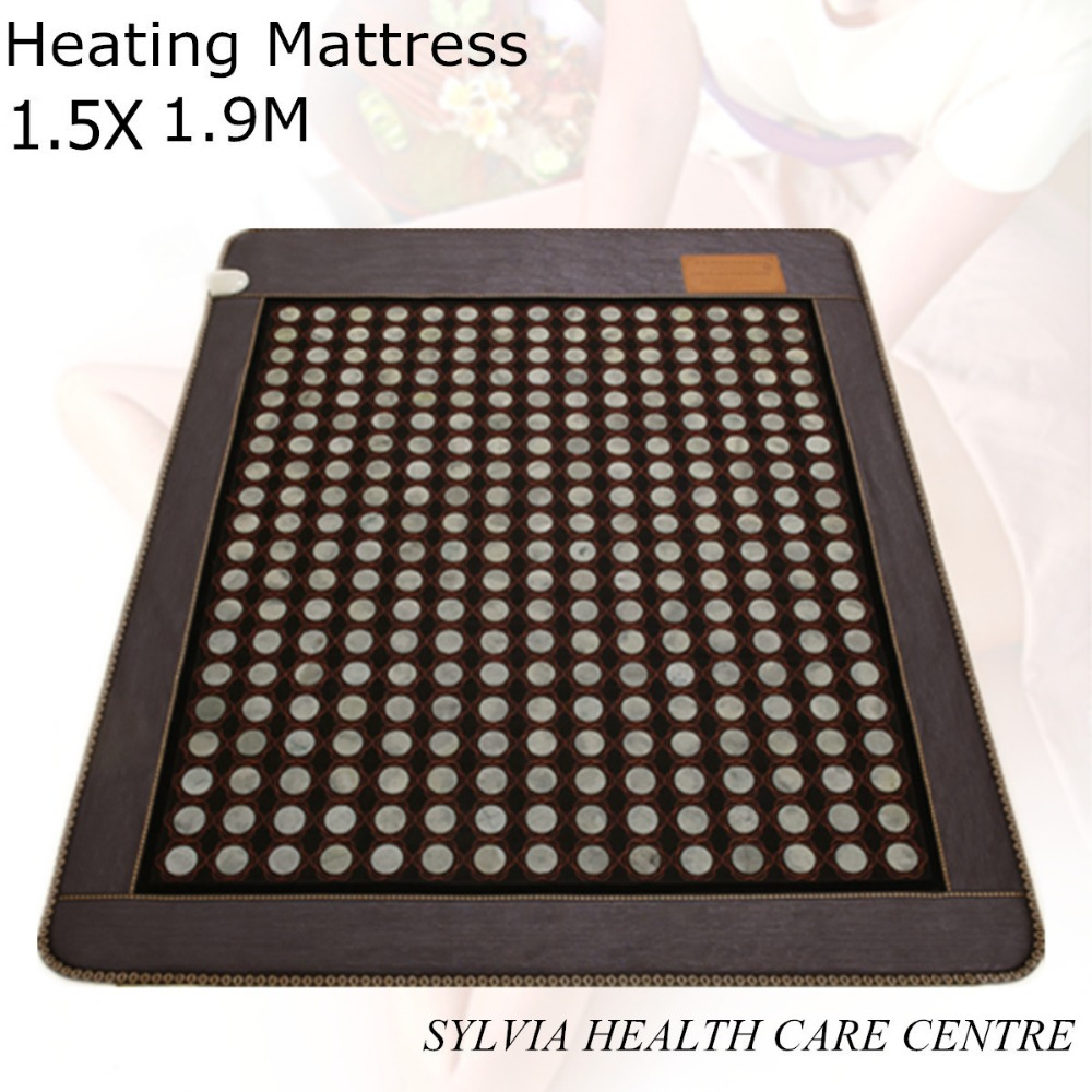 jade health care cushion tourmaline electronic heat jade heating bed mattress heating Physical therapy mat 1.5X1.9M/ 59''X74.8''(China (Mainland))