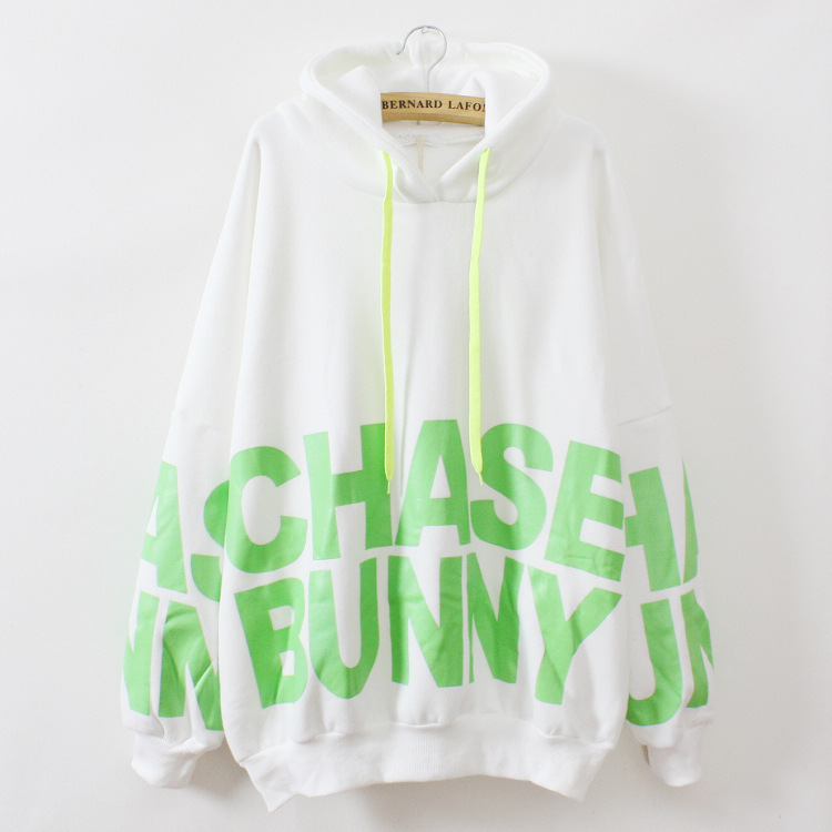 2015 ovly cat ears hoody women's cotton gaps hoodies big letters warm loose style sweatshirt women 3 color moletons feminino(China (Mainland))