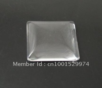 wholesale 200pcs/lot 16mm square glass cabochon beads fit pendant tray /cufflink blank