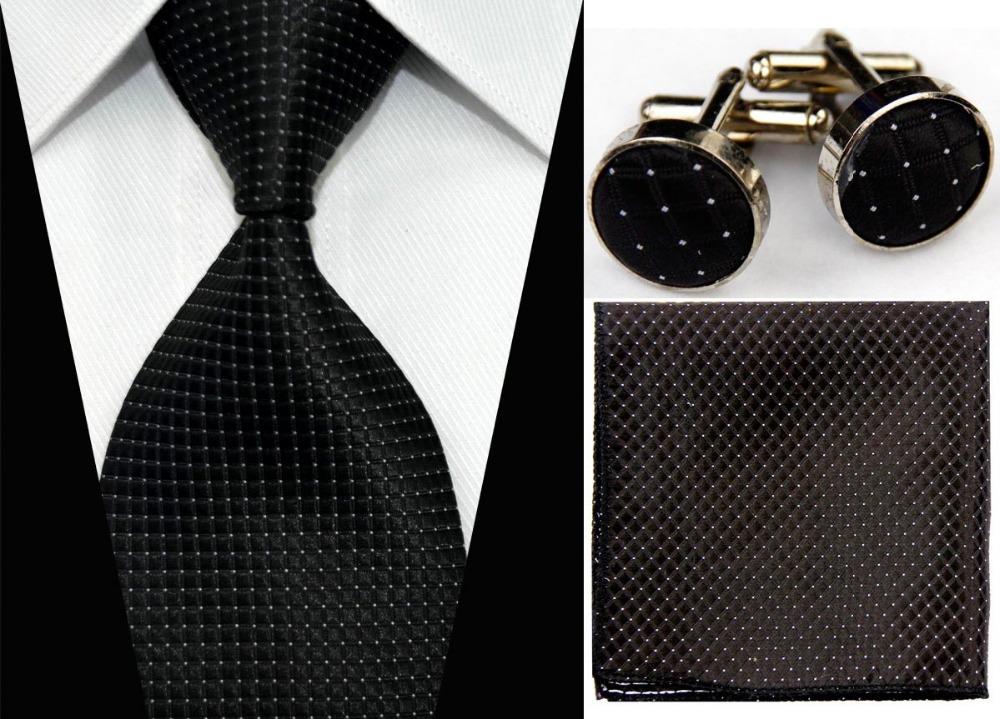 """4""""/10cm Wide Mens Accessories Solid Striped Pattern Business Silk Tie Set Hanky Handkerchief Cufflinks Necktie for Men(China (Mainland))"""