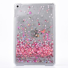For Mini 4 Colorful Hearts Liquid Glitter Quicksand plastic Case Cover(China (Mainland))