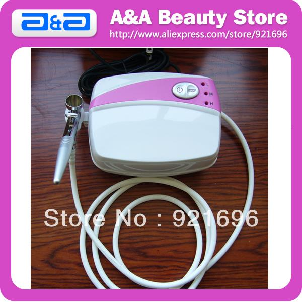 Фотография Portable Airbrush Makeup Kit with 1 pc Airbrush+ 1 Set Mini Compressor + 1pc Power Adapter + Air Hose