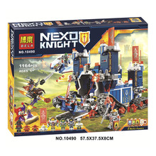 Nexus Knights Fortrex Combination Castle Building Block Set Clay Aaron Fox Axl Minifigure Bricks Toys Compatible Gift - Customer is supreme8 Store store