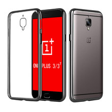 Ultra Thin Gold Plating Crystal Clear Soft TPU Case One Plus3 3T/OnePlus Three/One Plus 3 5.5inch Luxury Silicone Back Cover - New touch store