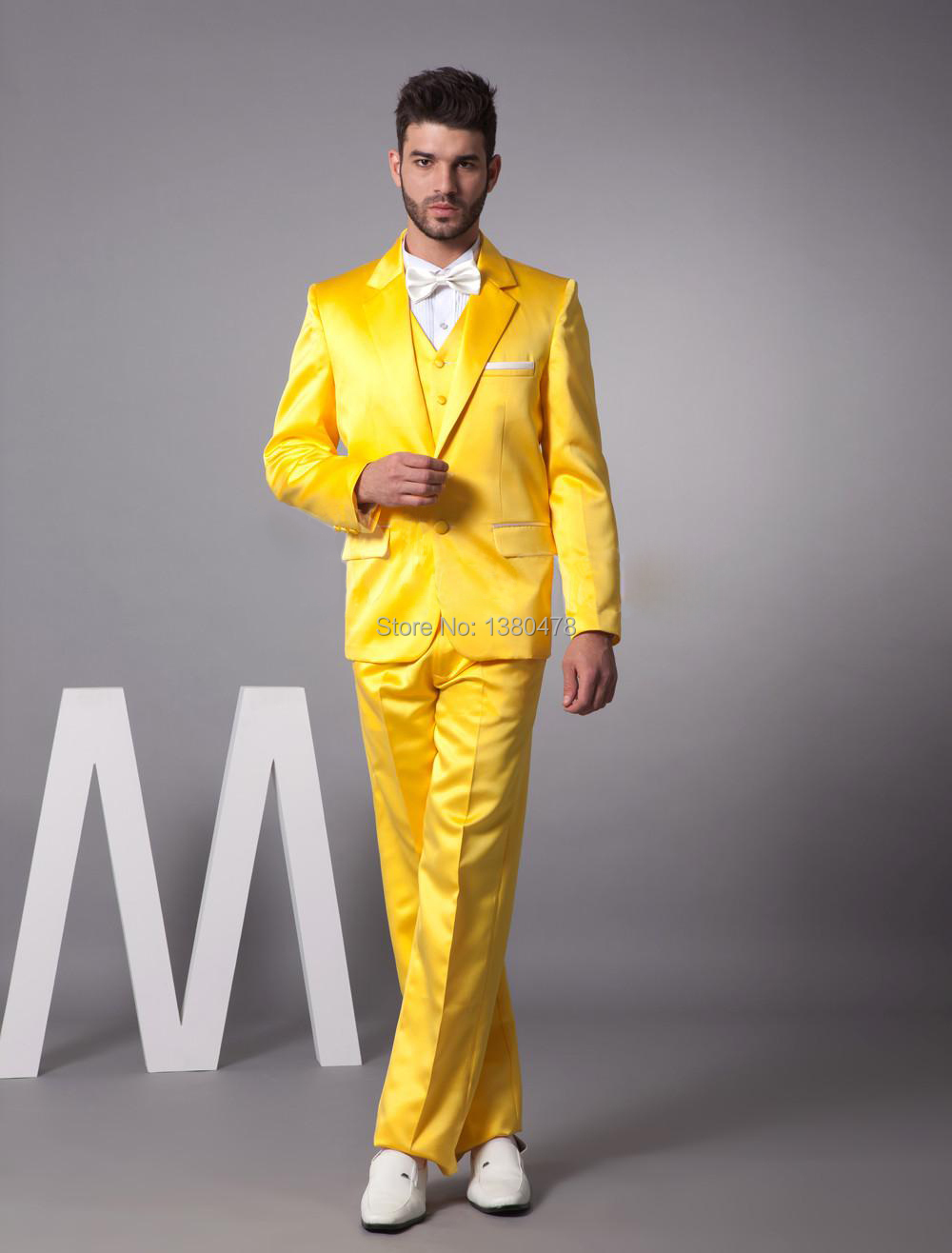 2014 New Year Hot Sale 20% off very popular custome made groom tuxedos Gun Collar Fashion Yellow Mans Wedding Suits Men suitsОдежда и ак�е��уары<br><br><br>Aliexpress