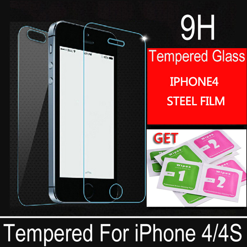 Protective glass on the iPhone 4 4s glass film screen scratchproof tempered glass front protective film