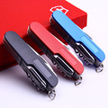 11 In 1 Swiss Knife Folding Multifunctional Tool Set Hunting Outdoor Survival Knives Portable Pocket Compact