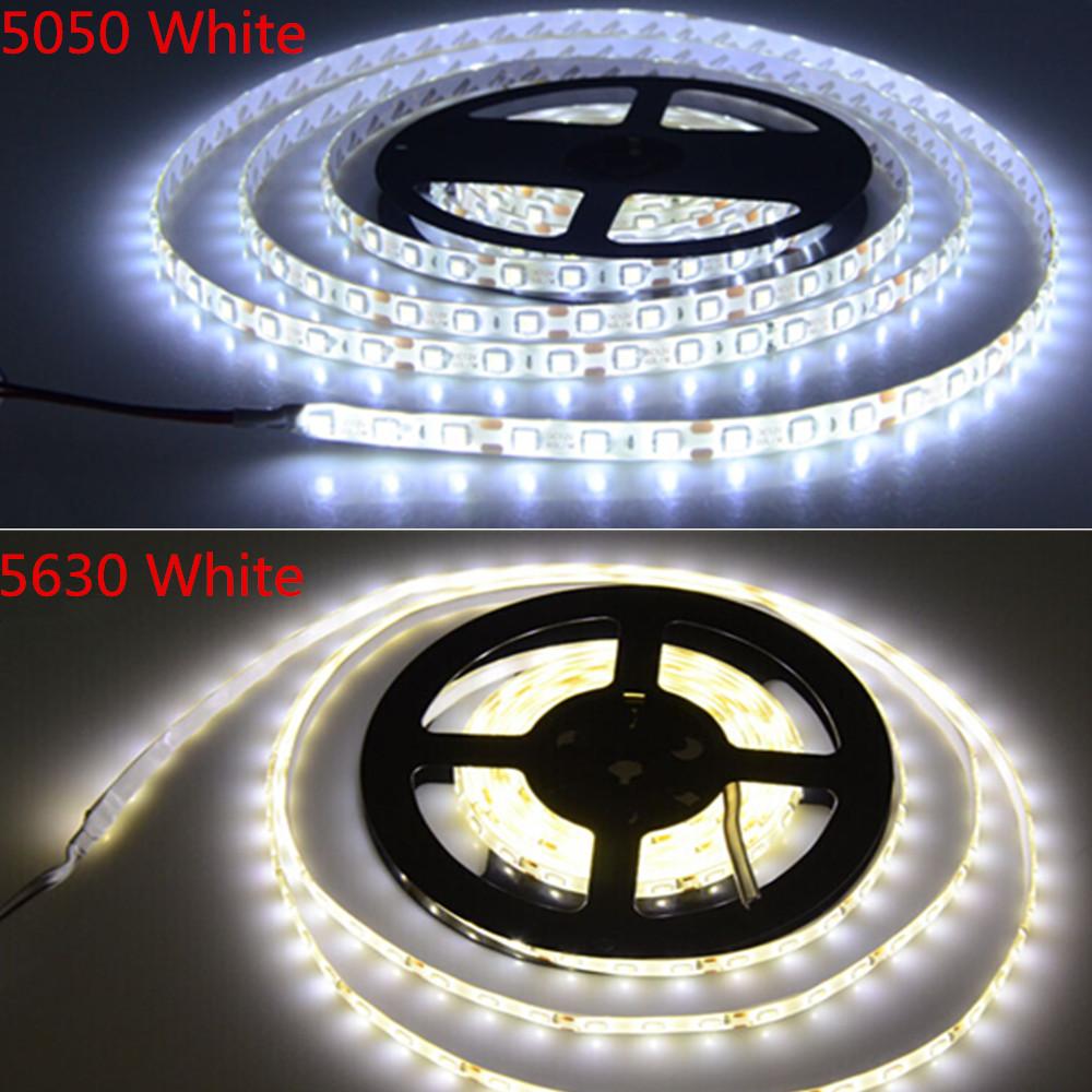 5M / Roll LED Strip Light 5630 5050 3014 SMD DC12V 5M 300Led Flexible Bar Light Neon Lamp White / Warm White Home Decoration(China (Mainland))