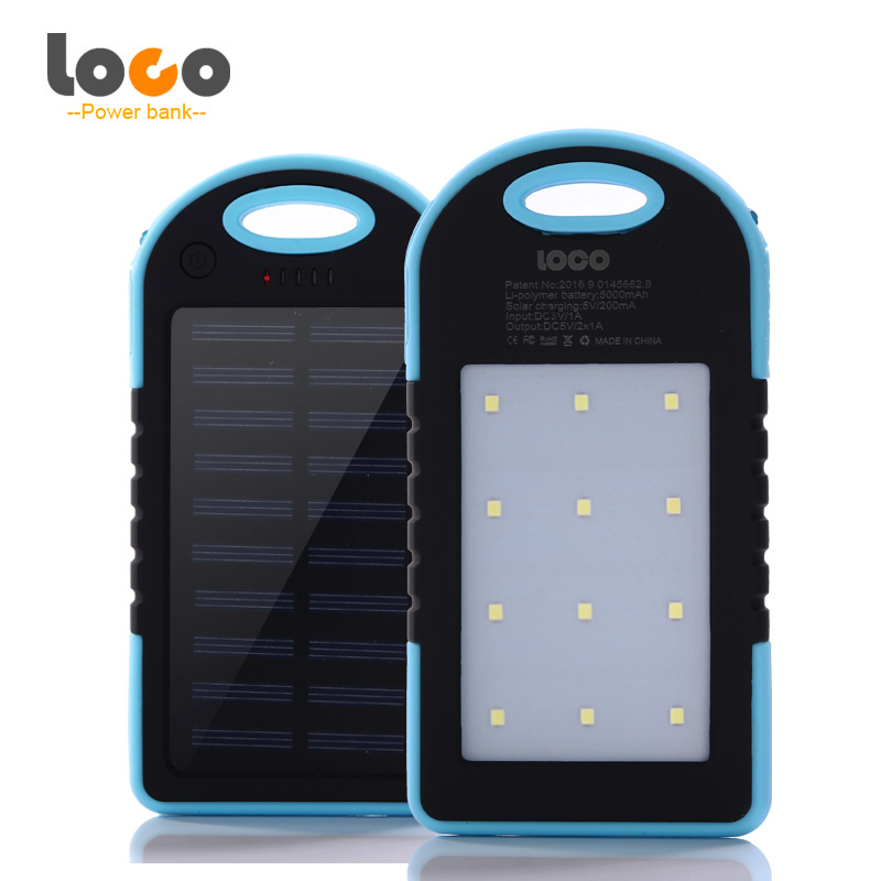 Original LOCO 5000mAH Solar Phone Powerbank Mobile Battery Charger Power Bank Portable Usb Led Poverbank For Xiaomi Iphone cell(China (Mainland))