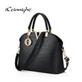 iCeinnight bag women PU leather shoulder bag female Luxury handbag shell Designer Crocodile casual tote bolsas