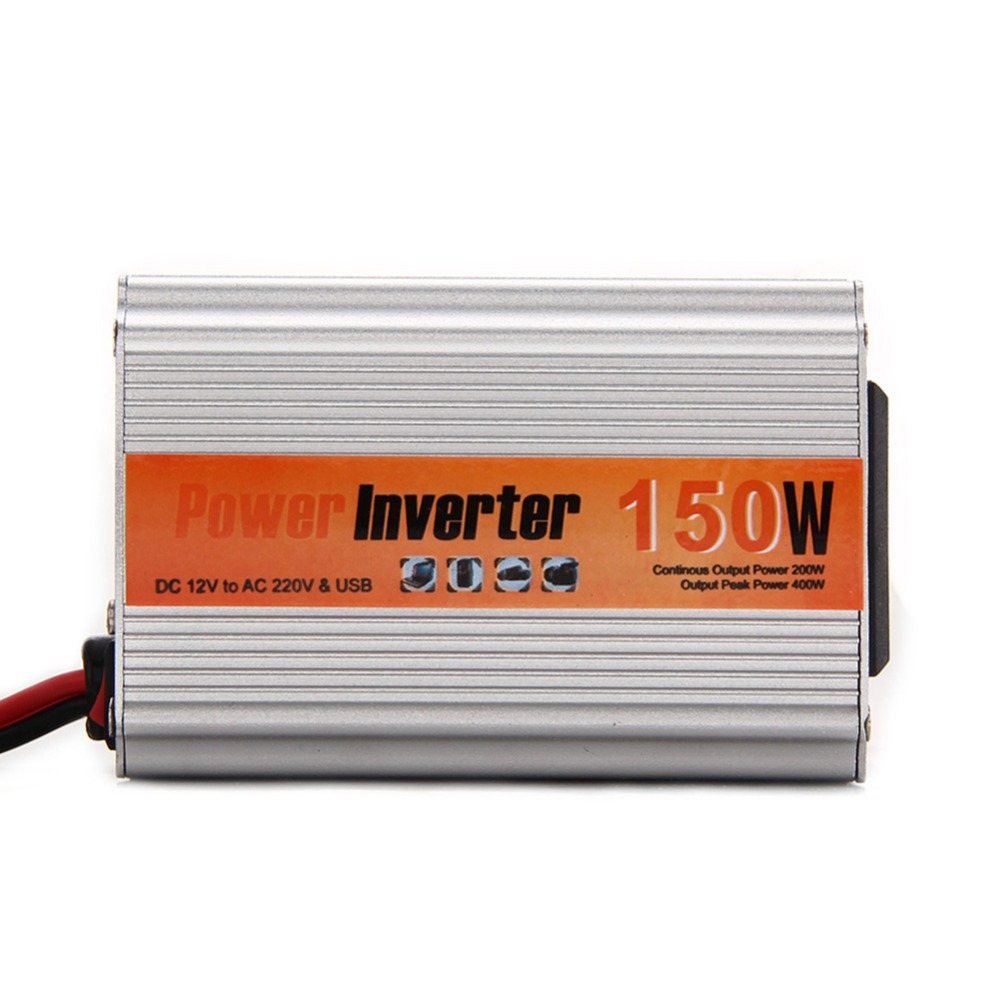 Multi-Purpose Car Power Inverter 150W DC 12V to AC 220V with USB port E1Xc(China (Mainland))