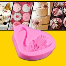 Kitchen Accessories 3d Swan Shape Fondant Silicone Mold Cake Decoration Bakeware Chocolate Moulds Drop Shipping