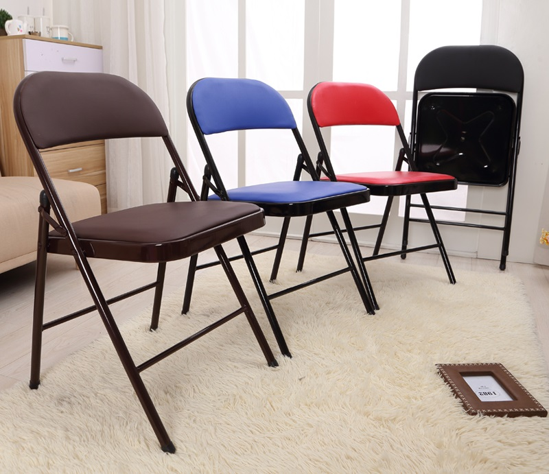 Simple folding backrest cr comter conference home office Seating Companies training steel crs FREE SHIPPING(China (Mainland))