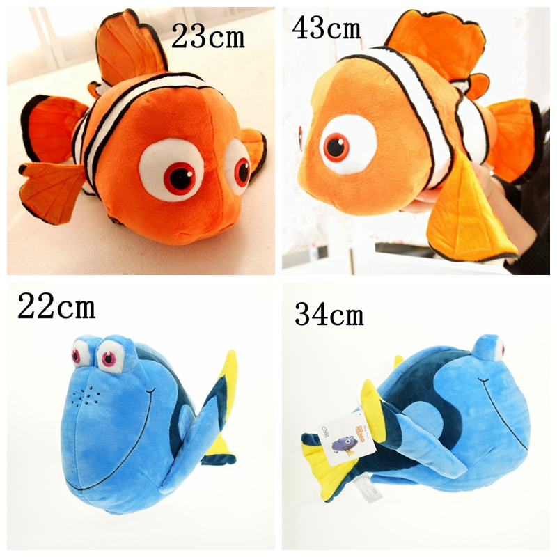 1pcs Plush Finding Nemo toys, Nemo and Dory fish Stuffed Animal Soft Plush Toy for baby gift(China (Mainland))