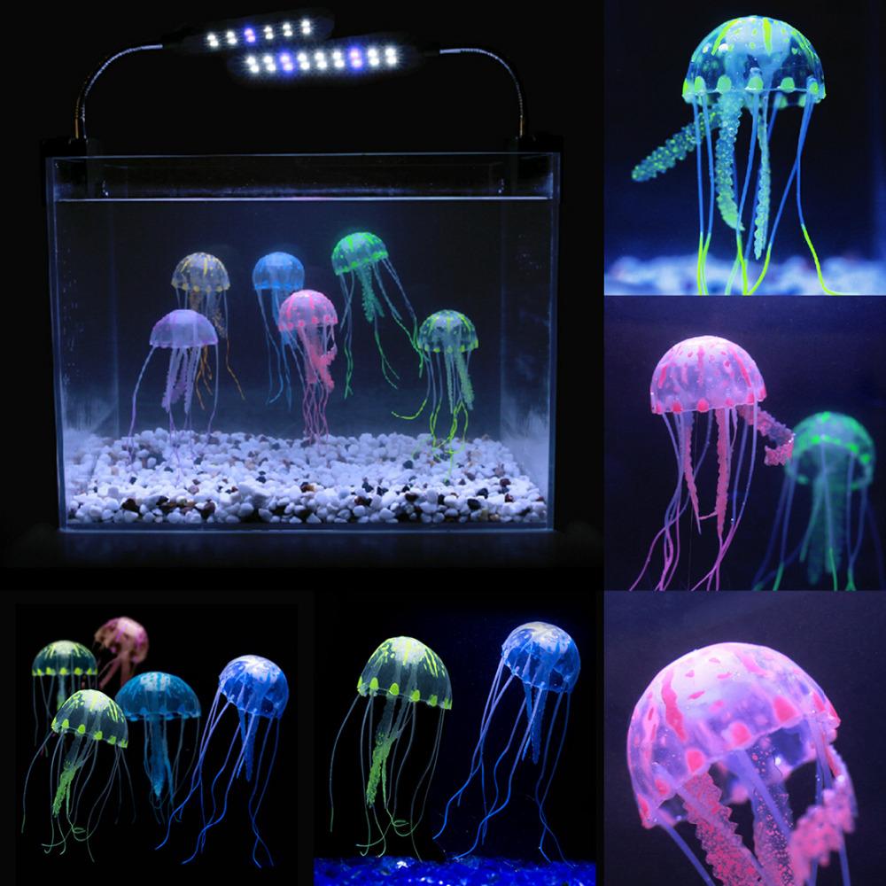 Beauty artificial fake jellyfish acuario aquarium for Aquarium jellyfish decoration
