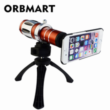 Buy ORBMART 20X Mobile Phone Magnification Optical Zoom Lens Camera Telescope Mini Tripod Case Cover Apple iPhone 7 7 Plus for $56.91 in AliExpress store