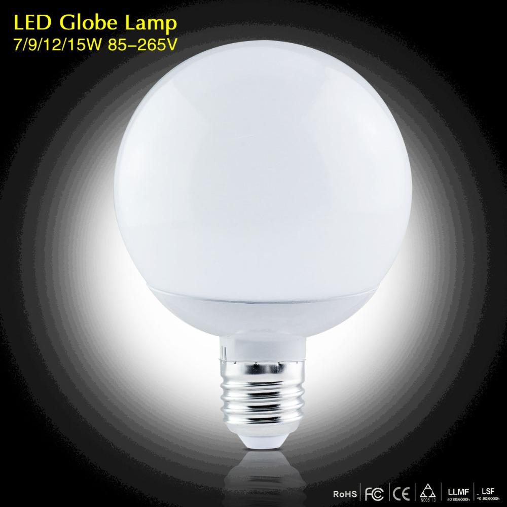 1Pcs High Lumen 3W 5W 7W 9W 12W 15W E27 220V 85-265V LED Corn lamp Chandelier 5730SMD Bubble Ball Bulb Spotlight Indoor lighting(China (Mainland))