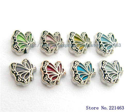 10pcs Free Shipping Floating Lockets Charm Butterfly FC986 fit living memory photo locket with glass(China (Mainland))
