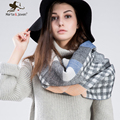 Marte Joven 195 65 cm Za Tartan Scarf for Women Winter Plaid Wrap and Pashmina