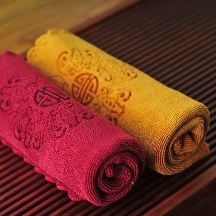 2 Colors Combo promotion Ceramic wufu tea towel tea cloth waste-absorbing 100% thickening cotton kung fu tea table cloth(China (Mainland))