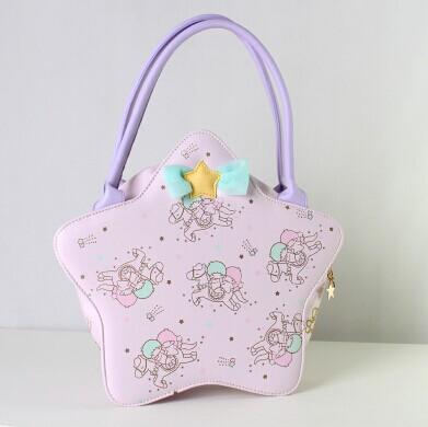 Harajuku sanrio gemini bag bow lolita handbag soft bags girls(China (Mainland))