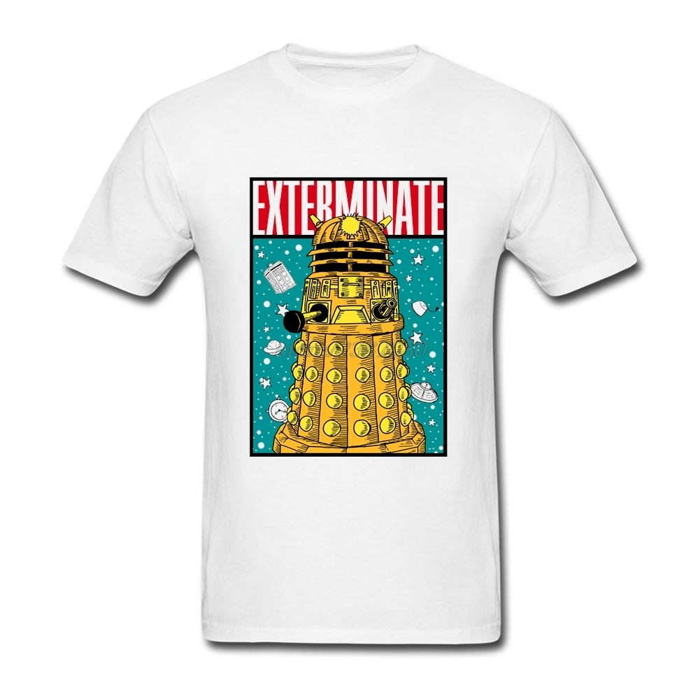 Shirt design price - Personalized T Shirts Exterminate Design Low Price Youth Doctor Who Dr Who Daleks Casual Shirts Men