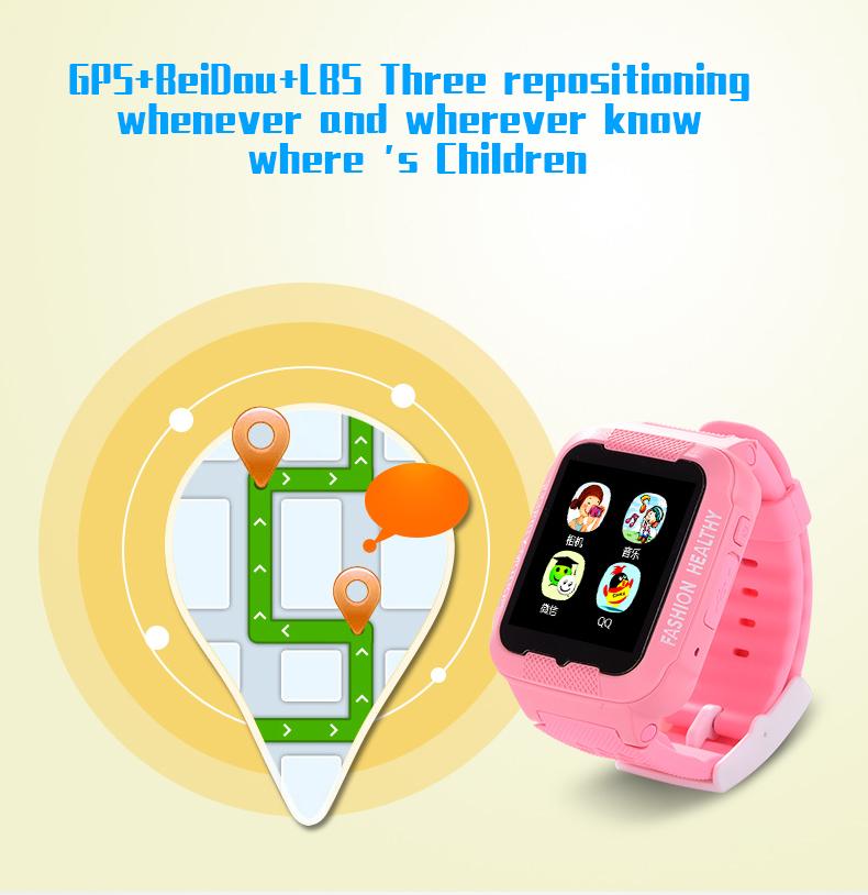 Kids bluetooth K3 smart watch children GPS LBS AGPS watch ...