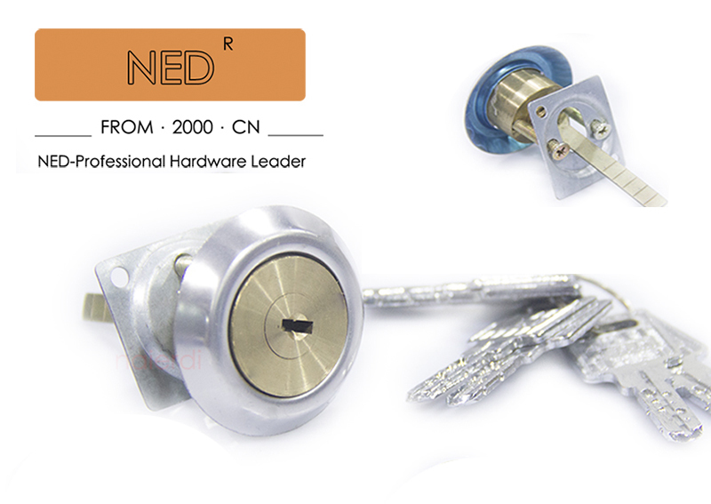 NED Security Entrance Door Lock Brass Tone Tapered Ned Lock Set computer keys Tapered <br><br>Aliexpress