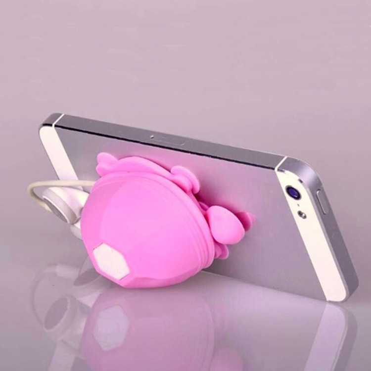 10PCS Little Turtle Model Earphone Headphone Winder Cable Silicone Cord Holder For Iphone samsung Phone holder stand(China (Mainland))