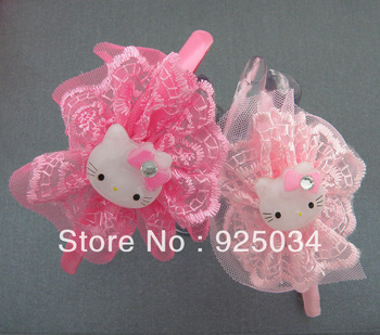 Baby children Hello Kitty Lace Embroidery Hairbands,Hand band,Kids Headwear ! CH89