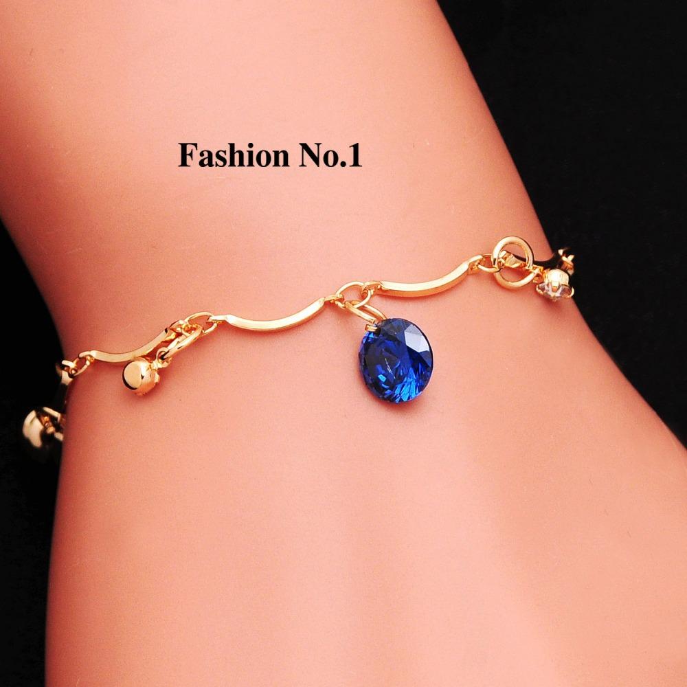 Promotion Brand new charm Bracelets 18K Gold plated fashion Women's Jewelry CZ diamond Crystal Bracelets Party Jewelry(China (Mainland))