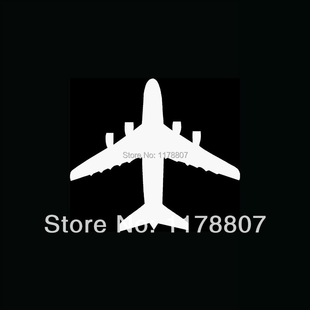 Wholesale AIRPLANE TOP VIEW Sticker Jet Pilot Fly Land Fighter Aircraft Vinyl for Car Window Decal Fun(China (Mainland))