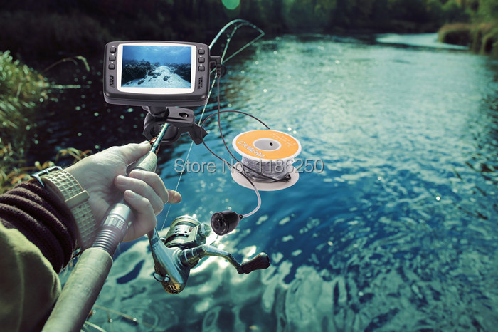 Fishing Camera 8 IR LEDs 15m Cable length Underwater Inspection Camera with 3.5 inch Color Monitor fish finder night vision(China (Mainland))