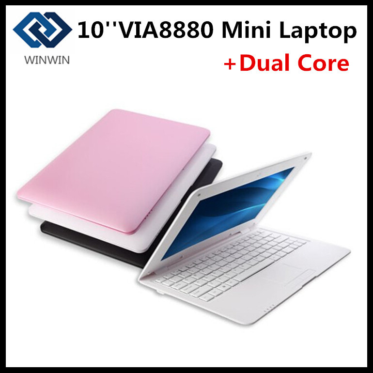 Cheap 10inch Mini Laptop Via 8880 Dual Core Android 4.2 Notebook Computer 512MB 4G webacm HDMI netbook laptop(China (Mainland))