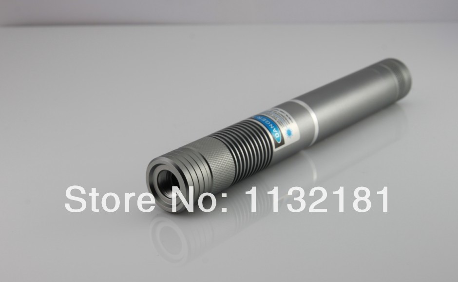 New design Real 1W 1000mW 450nm High Power blue Beam Laser Pointer Pen with charger,battery,glasses,and mental case(China (Mainland))