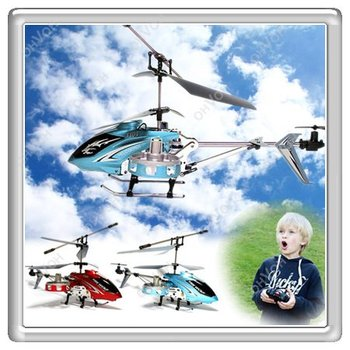 S5Y New 4CH Mini Metal Gyro Controller IR Remote Control RC Helicopter Toy Blue