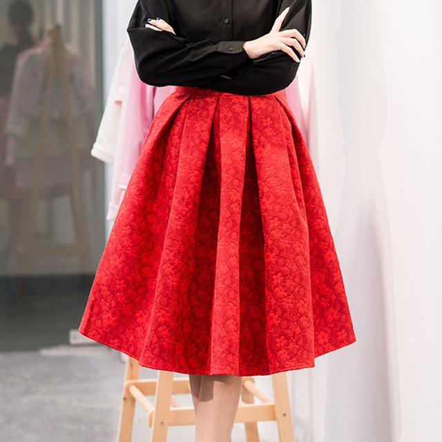 Новый Faldas 2015 летний стиль винтаж юбка высокой талией рабочая одежда миди юбки женская мода американский одежды юп роковой Saias