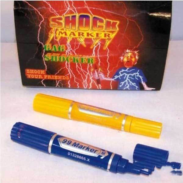 Foxhollow Electric Shock Trick Gag Marker Pen Toy Joke Funny Gift(China (Mainland))