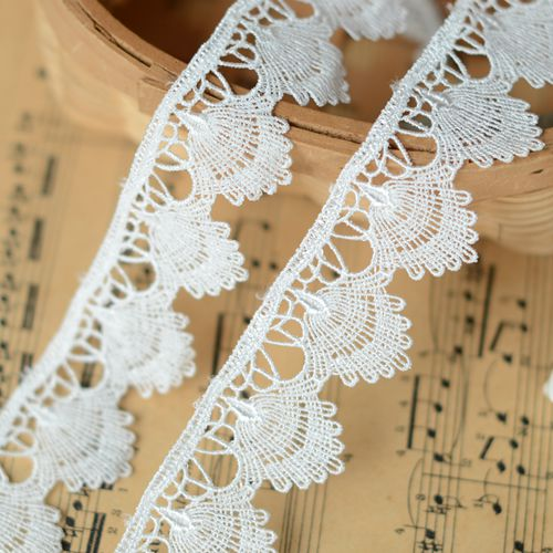 2016 lace accessories sell like hot cakes 3 cm wide white fan water soluble lace(China (Mainland))