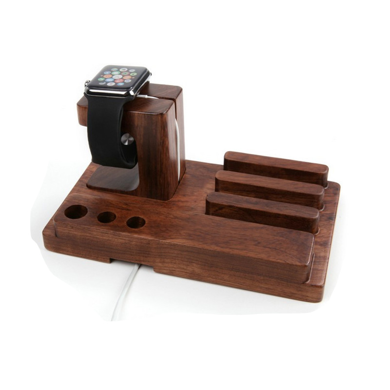 Bamboo Wood Charging Stand Bracket Docking Station Stock Cradle Holder for All Apple Watches iPhone 6S Ipad air Smart Phones(China (Mainland))