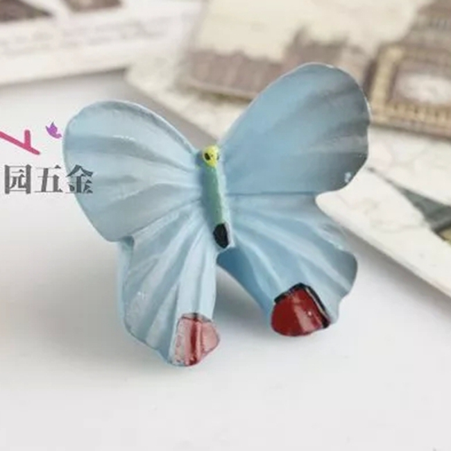 Гаджет  Colorful Beautiful Resin Butterfly Cabinet Cupboard Drawer Knob Pulls Handle MBS006-7 None Мебель