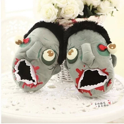Zombie Slippers For Women Home Winter Warm Home Floor Shoes Slippers Adult Winter Pantoufle Femme<br><br>Aliexpress