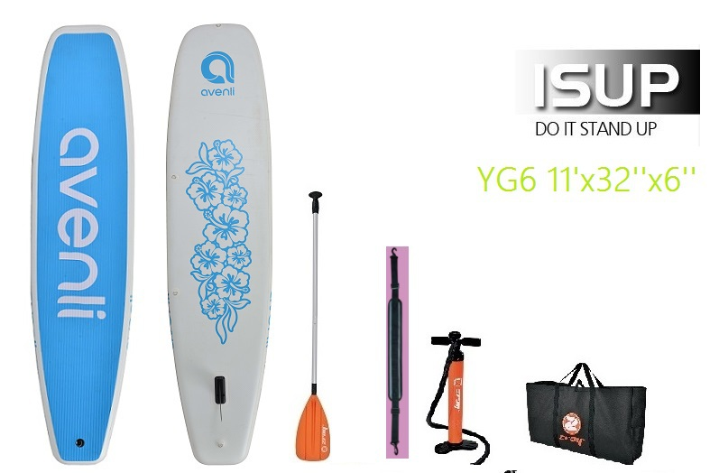 11ft YOGA Surf board Surfing Stand up paddle board Inflatable SUP Surfboard include oar inflation pump bag repair patch(China (Mainland))