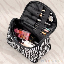 Portable Zebra Travel Wash Storage Toiletry Pouch Cosmetic Case Makeup Bag