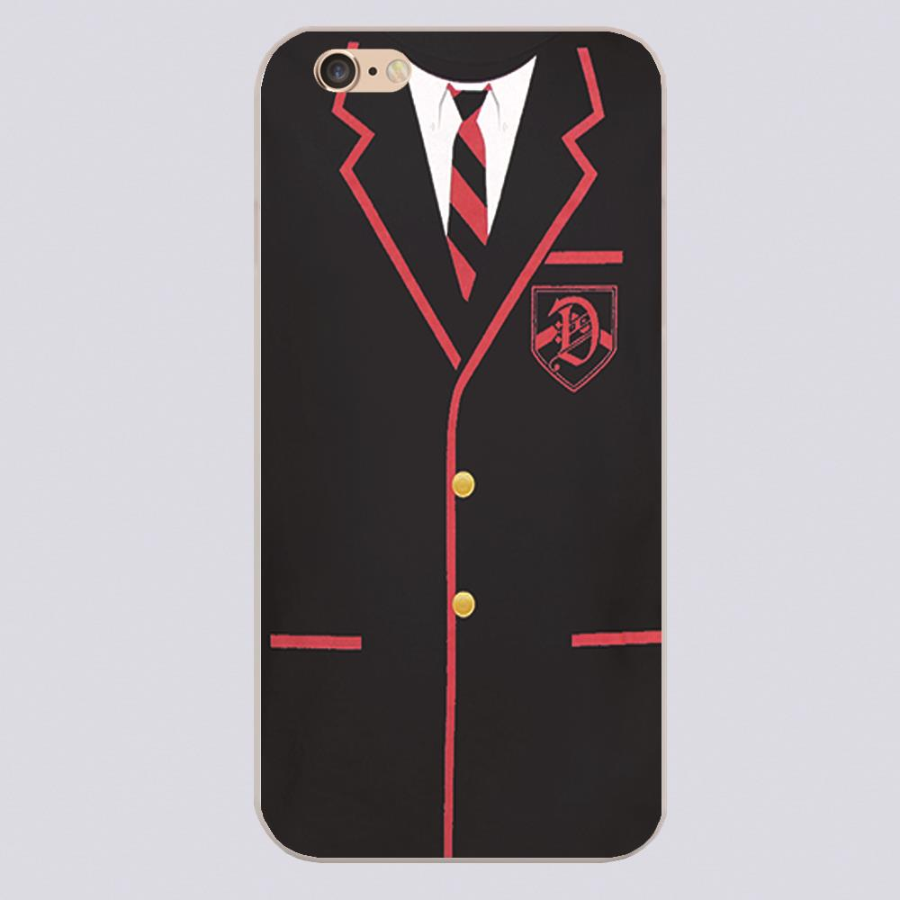 New arrived GLEE DALTON ACADEMY UNIFORM Design white skin phone cover cases for iphone 4 5 5c 5s 6 6s 6plus(China (Mainland))
