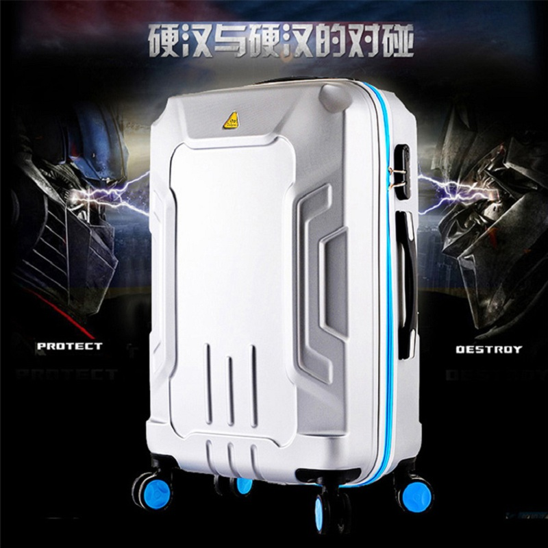 High quality 20 24 28 inches suitcase trolley case Transformers 3D extrusion Aluminum frame business Travel luggage Boarding box(China (Mainland))