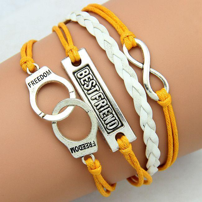 friendship bracelets handcuffs best friend fashion