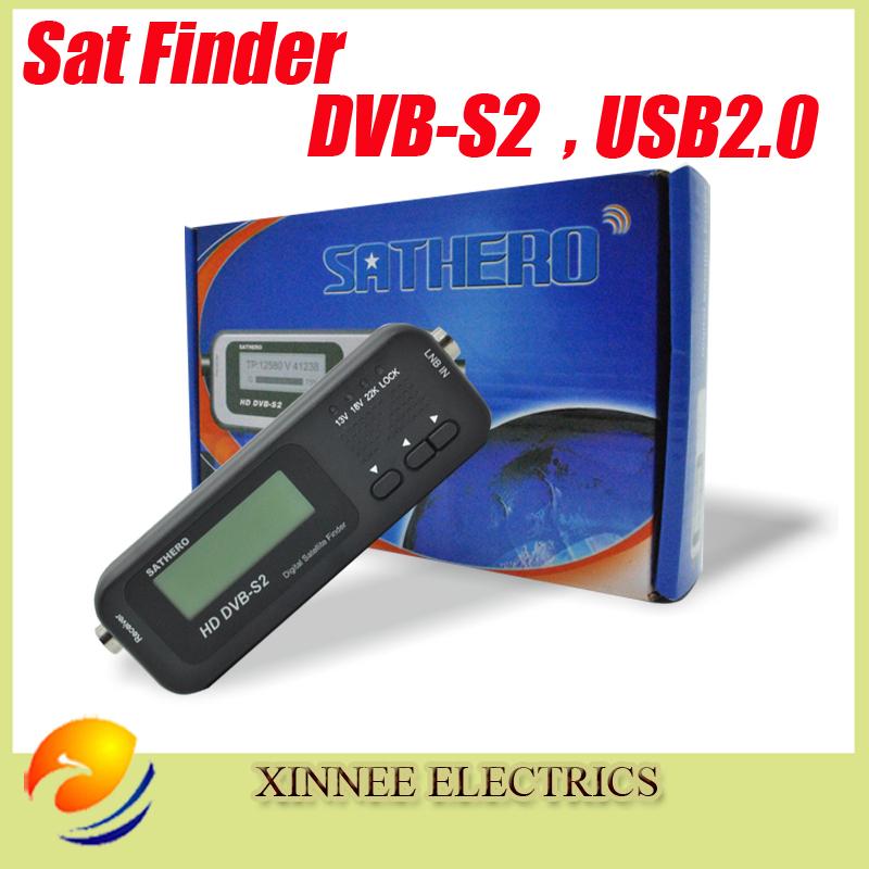 Digital Sathero SH-100HD Pocket Pocket Finder Digital Satellite Finder Satellite Meter HD Signal Sat Finder DVB-S2 USB 2.0(China (Mainland))