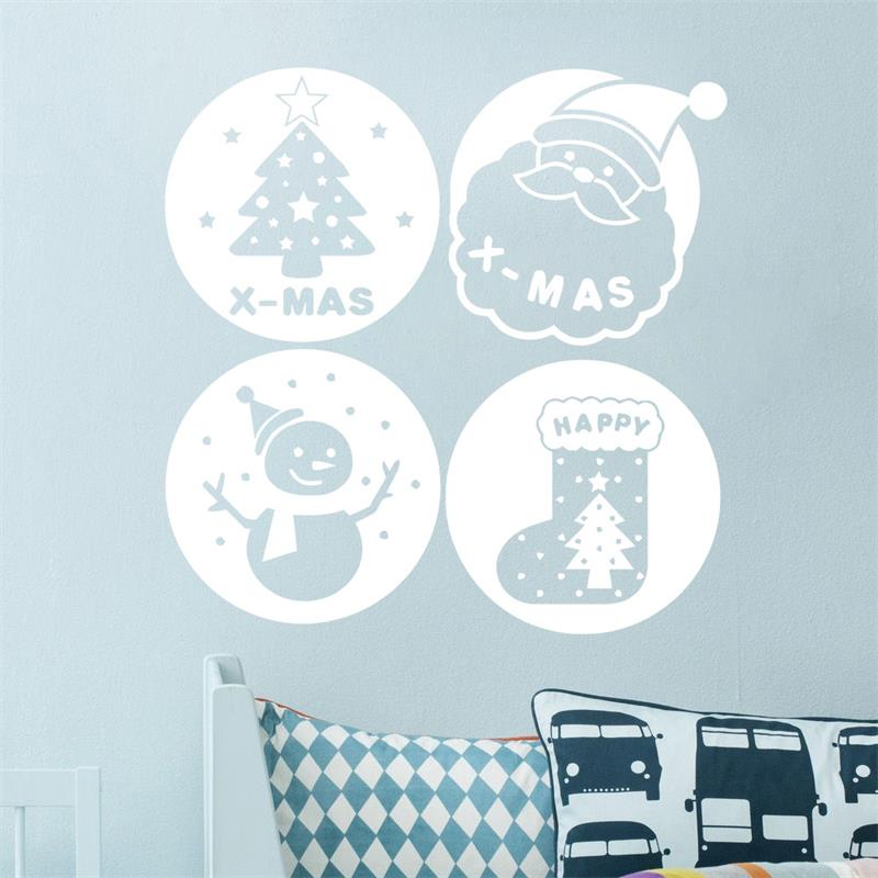 christmas decoration wall sticker Santa Claus tree snowman sock swindow decals xmas62 christmas decoration store Bottle poster(China (Mainland))