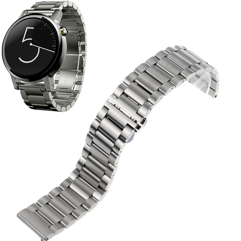 Butterfly Clasp Stainless Steel Watch Bands Bracelet Strap for Motorola Moto 360 2nd Men women 42mm 46mm Smart watch<br><br>Aliexpress